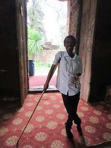 379_Debre Birhan Selassie Church  St  Yarid instrument, Praying Stick  Hit the floor and lean on it during the 3 hours offices