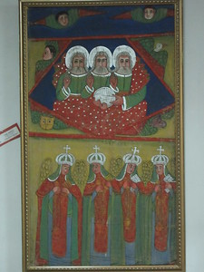 490_Addis Ababa  National Museum of Ethiopia  The Holy Trinity  The 4 Virgins Maiden (martyrs)