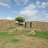 026_Axum  The Palace of Queen Sheba  9th C  BC  The Grand Entrance Hall  An Euphorbia Tree provides shadow