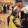 860_Key Afer  Market Day  Tsemay Tribe Men  With Ostrich Feathe ron the back of his Head