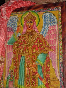 223_Lalibela Rock-Hewn church  North-Eastern Group  Beta Golgotha  Archangel Michael