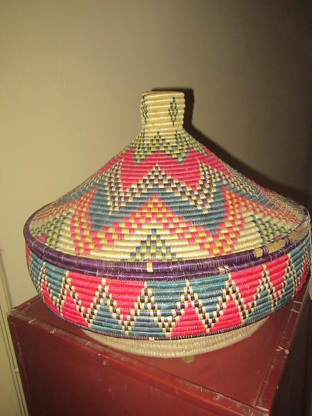 105_Axum  Wooven Basket  Made of Grass  Food Basket