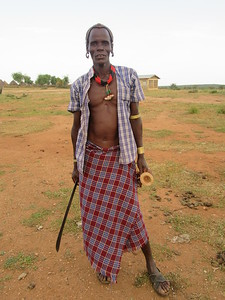 795_Omo Valley  Turmi  Hammer Village  Village Chief