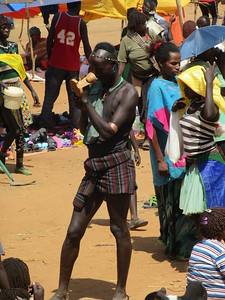 883_Key Afer  Tribal Market Day  Banna Tribe Men  Tall and Stiff