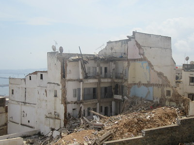 037_Alger  La Casbah  Effondrement dû aux Tremblements de Terre répétitifs