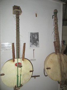 027_Banjul  Kachically Crocodile Poll and Museum  The Kora, Africa's most iconic instrument
