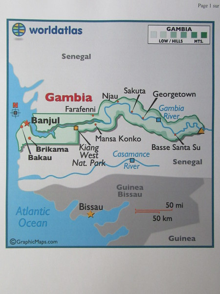 003_Gambia  Africa Smallest Country  350km X 55Km  Along the Gambia River  Population 1,7 million  42% Madinka Tribe