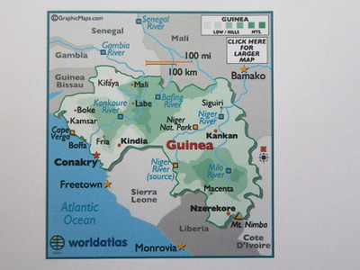 004_Guinée  (Conakry)  Naissance de grands fleuves Africains (Gambia, Niger, Sénégal)