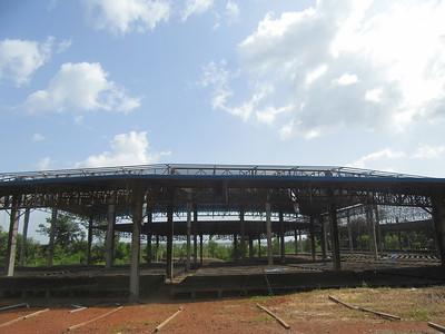 035_Le Littoral  Fatala  La Première Église Catholique en Guinée  L'amphithéâtre utilisé lors du pélérinage