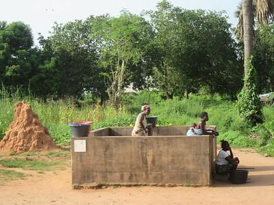 006_Guinea-Bissau  The Cacheu Region  Public Fountain  Paid buy the European Union