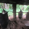 091_Village near Kpatawee Waterfalls  Producing Cane Juice  5 of 7  Boilng (cooking) the juice  No more than two third filled