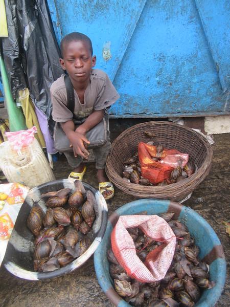 037_Monrovia  Waterside Market  UN Drive  Big Snails