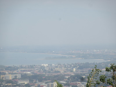 022_Bujumbura  As seen from Kiriri Hill  Congo border is 15km away (after Plage des Cocotiers, far right)