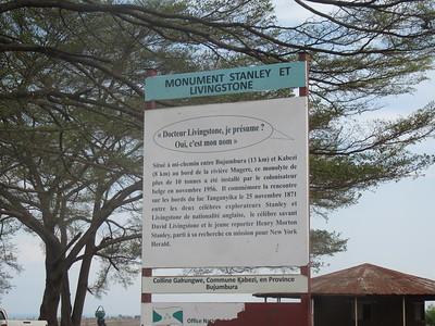 034_Bujumbura  Banlieu de Kanyosha  Monument de Stanley et Livingstone