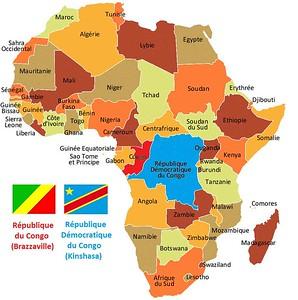001_RDC  République Démocratique du Congo (ex-Zaire)  Très grand pays, 4 fois la France