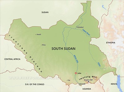 008_South Sudan  Landlocked  Receives it's Oil from Kenya, most of it's vegetables from Uganda