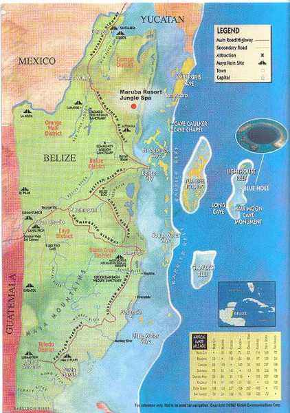 002_Belize_Coast_Map