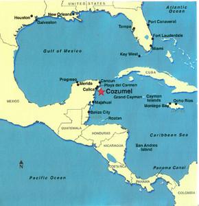 002_Caribbean_Map_Cozumel