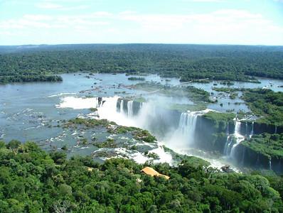 12 Iguacu Falls, 275 Falls, Height 80 meters, Wider and Higher than Victoria Falls and Niagara Falls