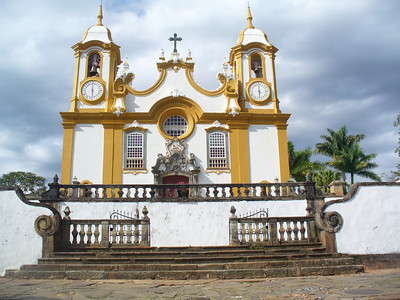 023 Tiradentes, Santo Antonio Church, 1710, Interior 482 kg gold, Second richest decor Brasil