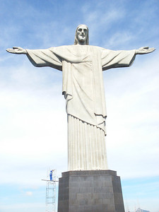 004 Rio De Janeiro, Christ The Redeemer, 38m High, 8m base, 30m body