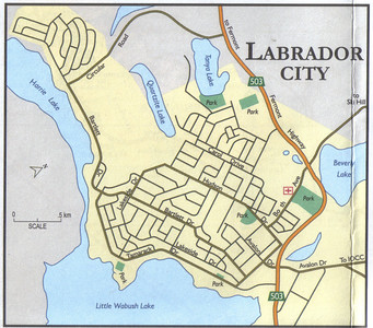 010_Labrador  Labrador City  Map