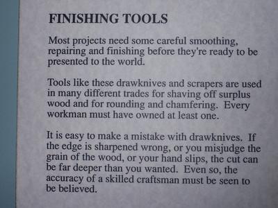 0597_Sherbrooke Village  Carpenter Shop  Finishing Tools