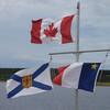 0127_Canada, Nova Scotia and Acadia Flags