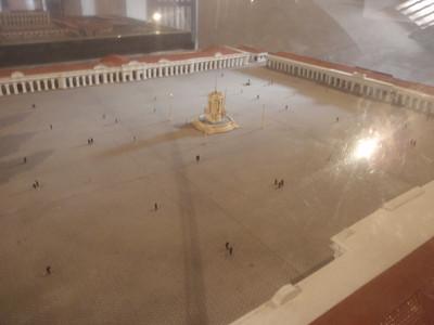 041  Antigua  Modelo de la Plaza Mayor  After 1775 Earthquake