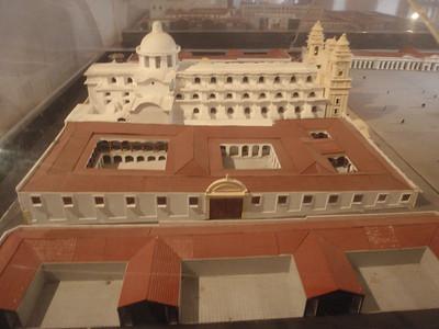 042  Antigua  Modelo de la Plaza Mayor  After 1775 Earthquake
