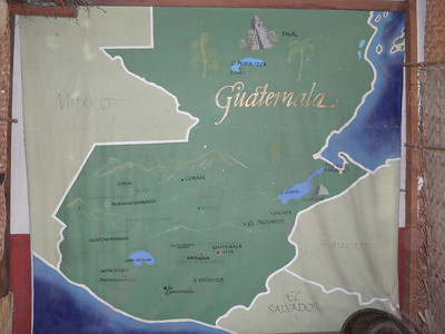 001  Guatemala  Map of the Country
