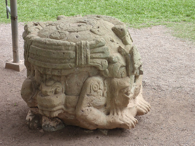 129  Copan Ruins  The Grand Plaza  Stela N and Altar  761 A D
