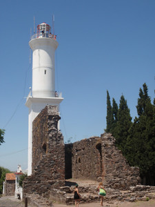 26_Colonia  Ruins of San Francisco Convent (1740) and Lighthouse (1890)  Faro jpg