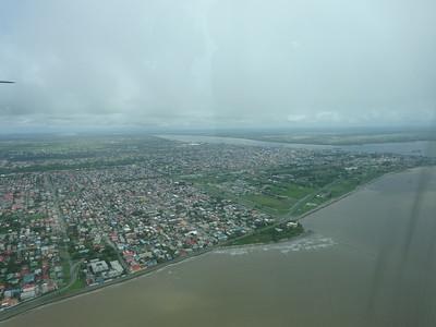 011_Georgetown, Capital of Guyana, Aerial View