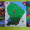 002_Carte de la Guyane Française  98% du territoire est couvert d'une forêt équatoriale riche et écologiquement peu fragment