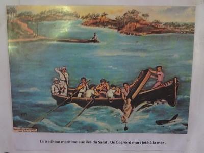 102_Les Bagnes de Cayenne  La tradition maritime aux îles du Salut  Un bagnard mort jeté à la mer