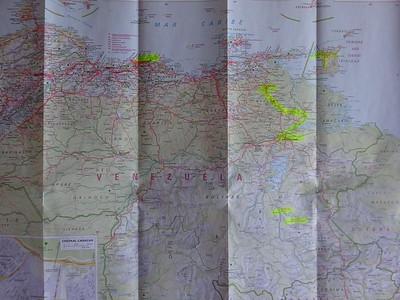 002_Venezuela  Map  Population 32 millions