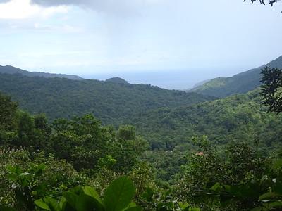 041_The Morne Trois Pitons National Park  Rainforest View of The Atlantic Coast