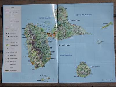 001_Guadeloupe  Carte  Surnommée, l'île papillon