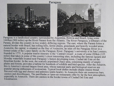 003_Paraguay  Has lost roughy 60% of its population in the Triple Alliance War of 1864-70
