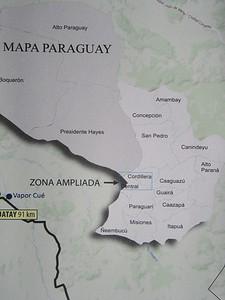 013_Paraguay Map  The Cordillera Central  Asuncion Region  Population 1 5 million