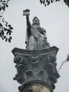 025_Asuncion  Plaza Independencia  Fundacion de la Asuncion, 1537  Athena, Goddess of Wisdom