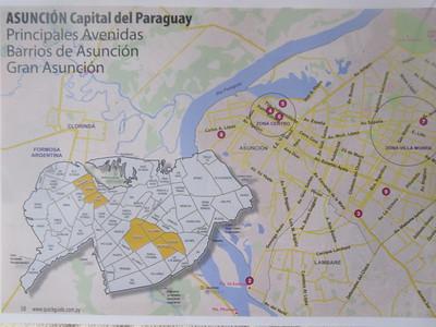 014_Asuncion, Capital del Paraguay  Map  Zona Centro  Downtown