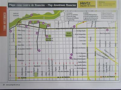016_Asuncion Map  Zona Centro  Downtown