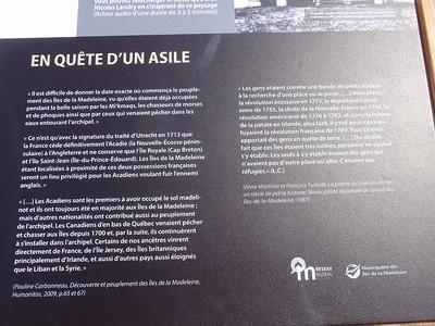 007_Îles-de-la-Madeleine  Le Peuplement