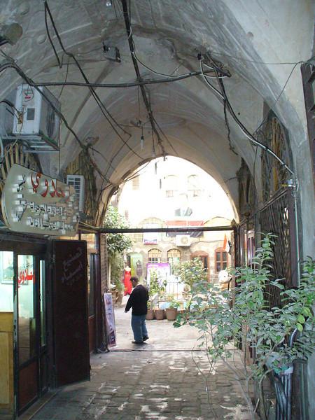 029_Damascus_Old_Souk_Couloir_menant_a_un_Caravenserail