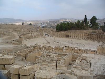 025_Jerash_The_Unusual_Oval_Plaza_The_Forum