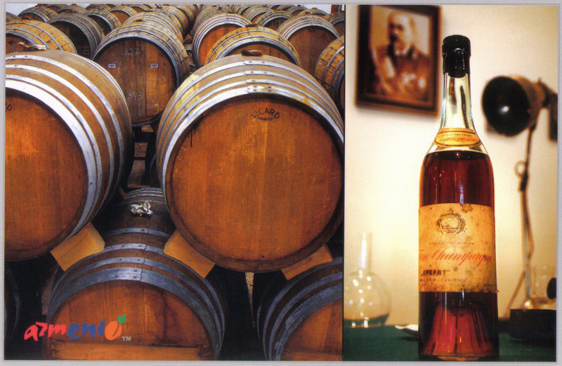 008_Cellar_Barrells_and_the_first_bottle_of_Armenian_brandy_1896