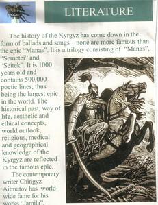 032_Kyrgyzstan, Literature