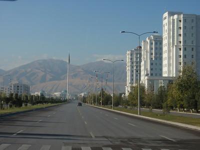 032_Ashgabat  Past the mountain range, lies Iran